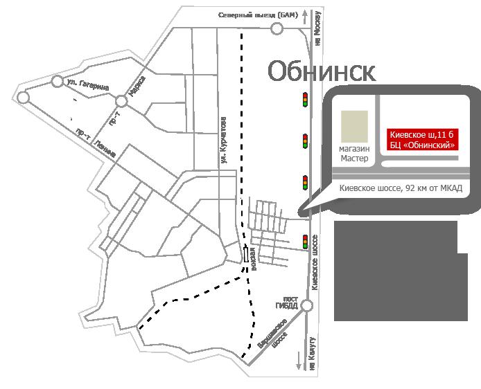 Схема проезда на обнинск фото 477